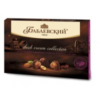 """糖果""""BABAEV»暗收膏隨著散裝黑巧克力全榛子和杏仁"""